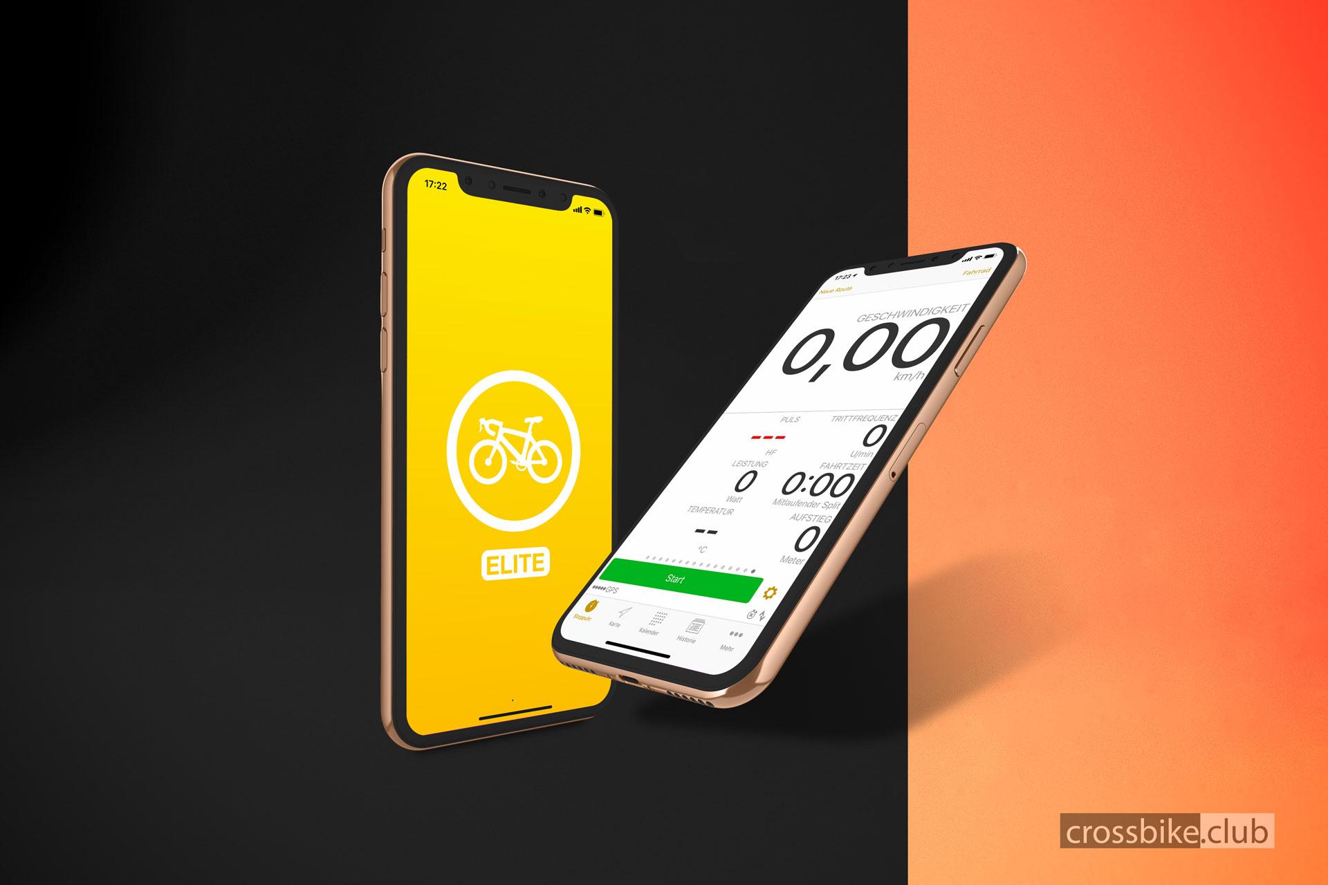 Die kostenpflichtige App Cyclemeter ELITE
