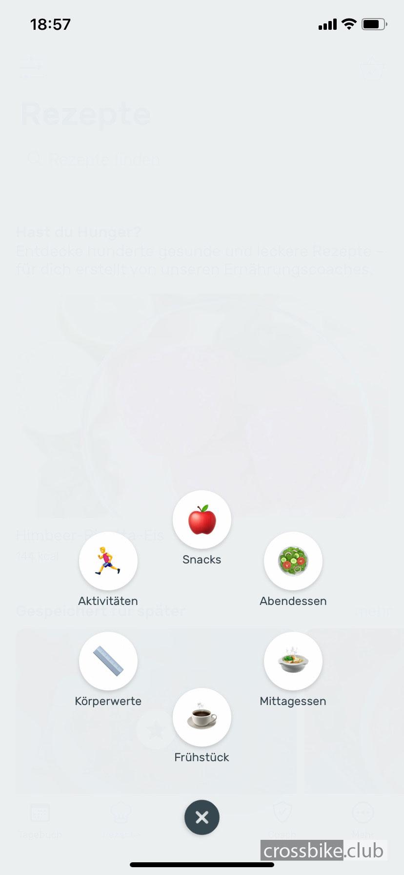 App_YAZIO_Schnelleingabe