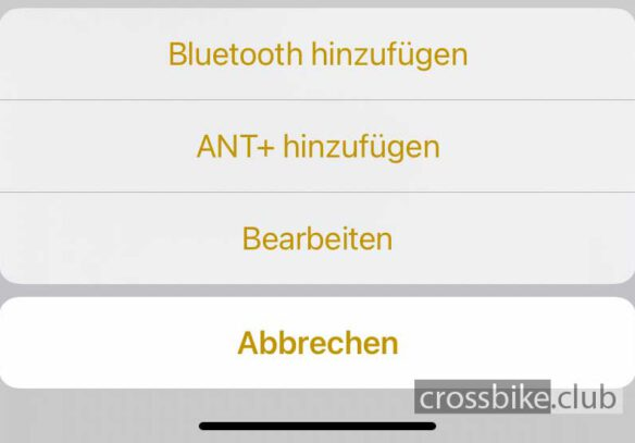 Bluetooth Sensoren löschen in Cyclemeter